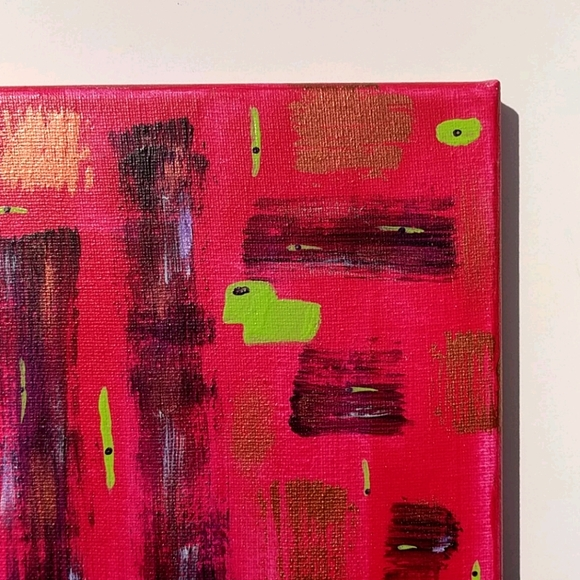 Original abstract painting bright and beautiful!